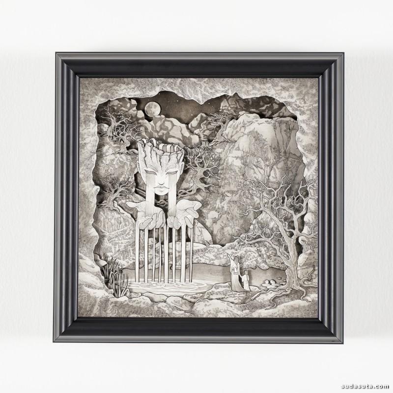 Daria Aksenova 纸张雕刻与绘画作品欣赏