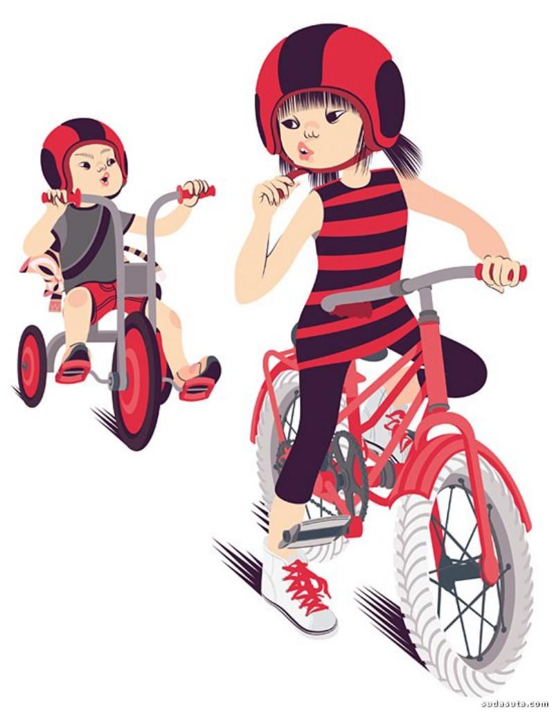 Gloria Pizzilli 时尚插画欣赏