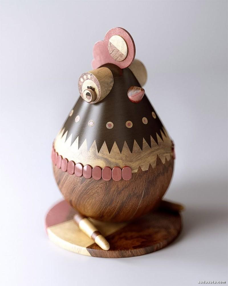 Mat Szulik 手工木头雕刻设计欣赏