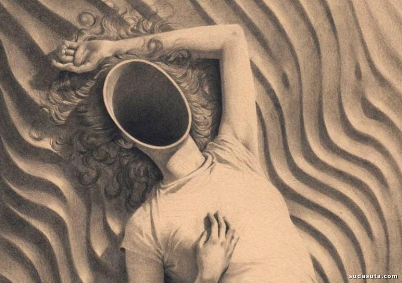 Miles Johnston 超现实主义铅笔插画欣赏