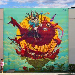 Segura Dona 动物主题的城市墙绘