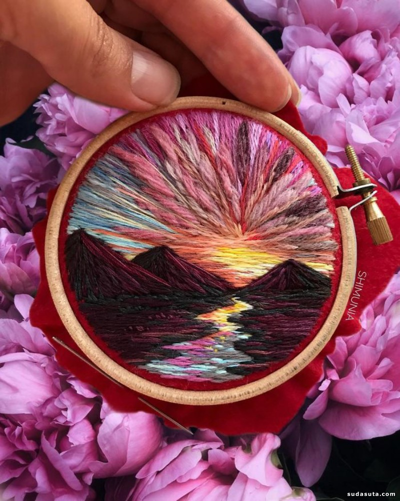 Vera Shimunia 立体刺绣新艺术