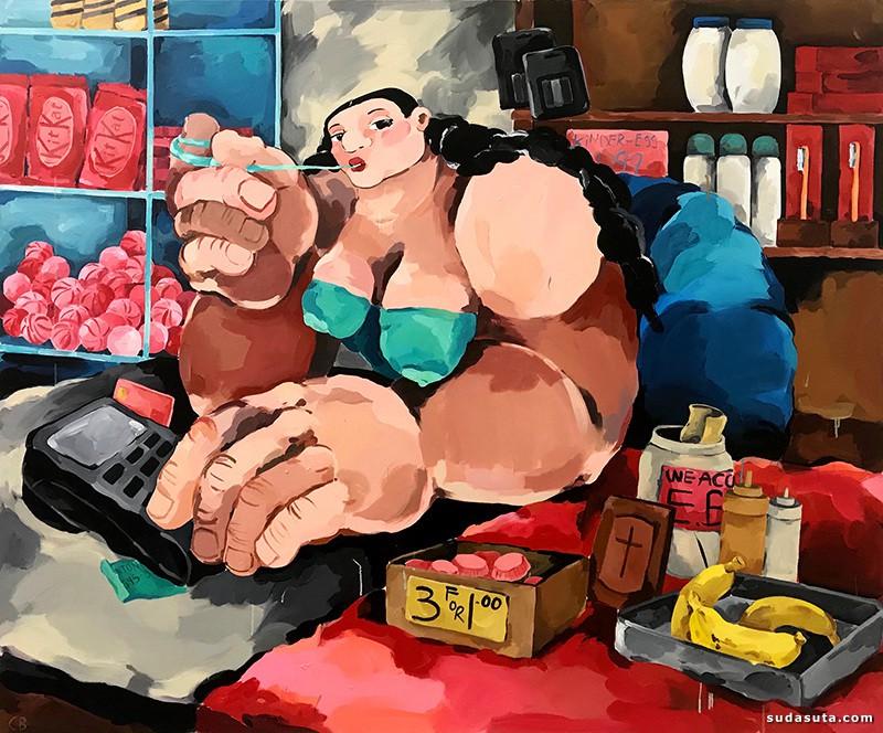 Cristina BanBan 胖美人儿 主题插画欣赏
