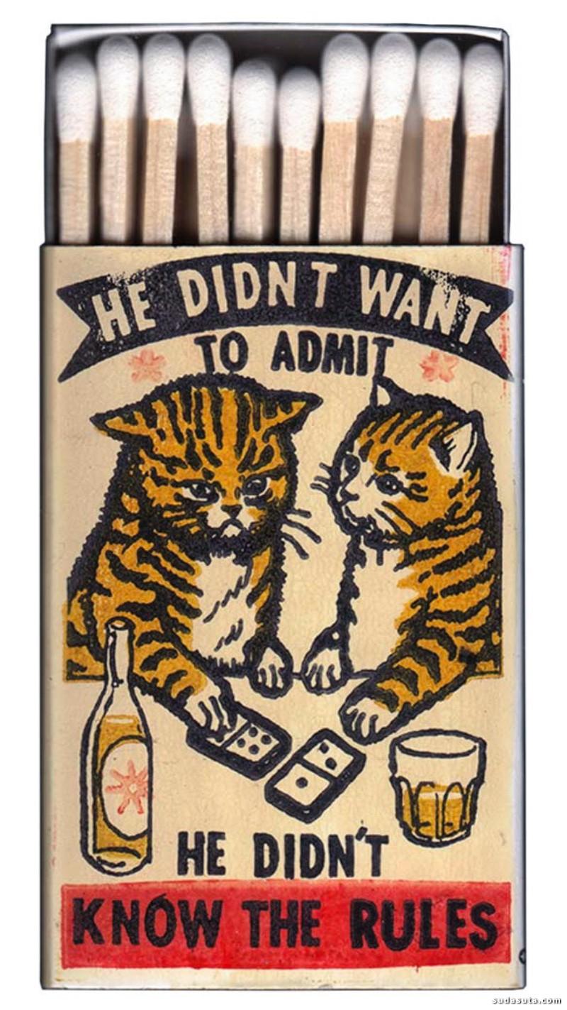 Arna Miller 猫咪的秘密 火柴盒设计欣赏