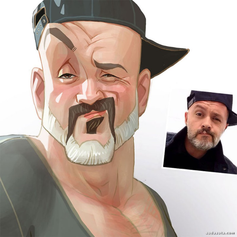 Xi Ding 生动有趣的卡通漫画