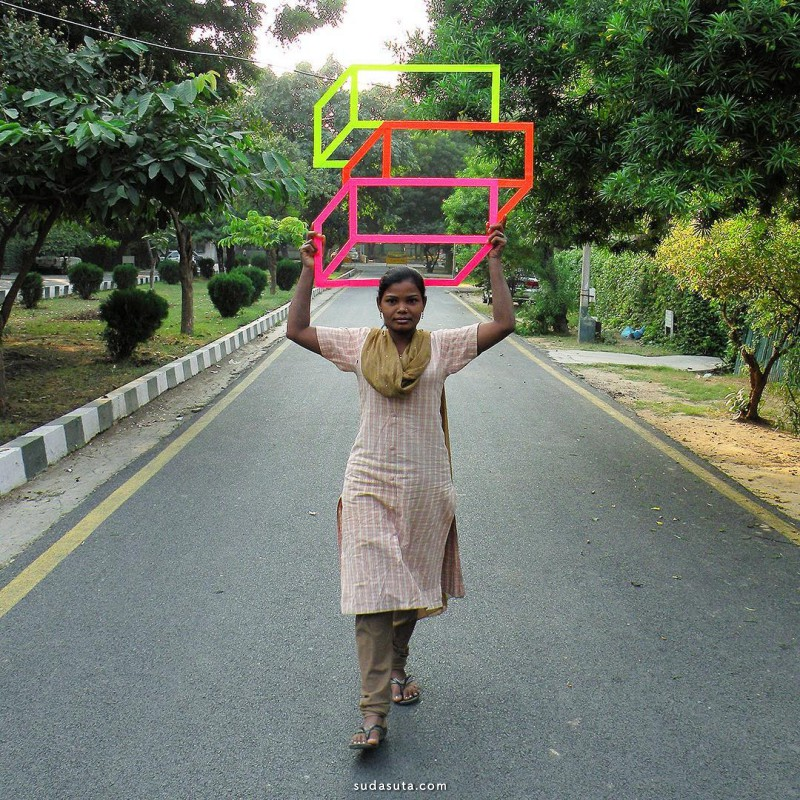 Aakash Nihalani 极简主义视错设计欣赏