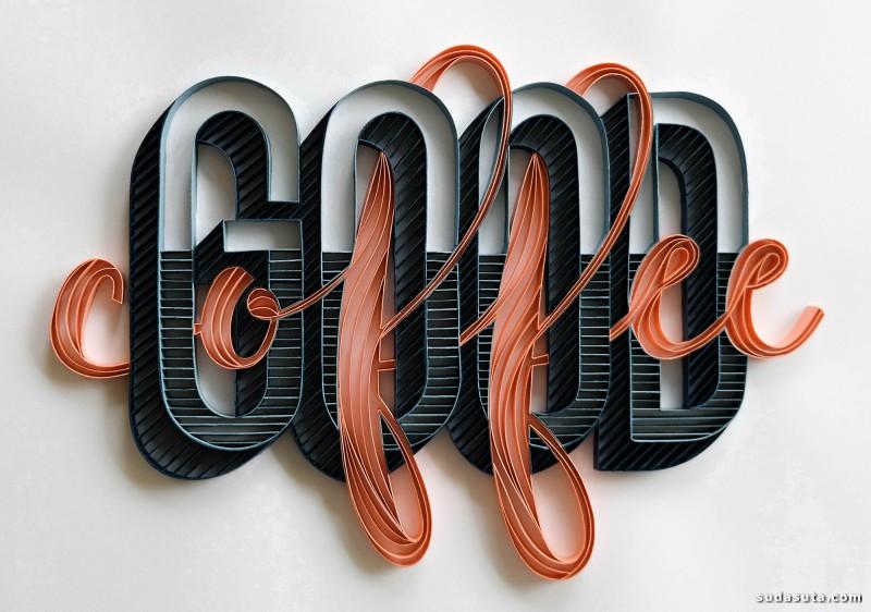 Alia Bright 纸张的花体字艺术