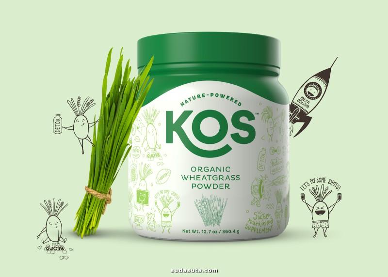 KOS 健康的美食 品牌设计欣赏