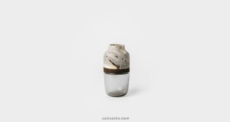 Melanie Abrantes  材料的混合 环保的花瓶设计