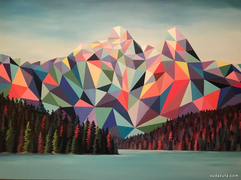 Elyse Dodge 抽象的山 色彩构成欣赏