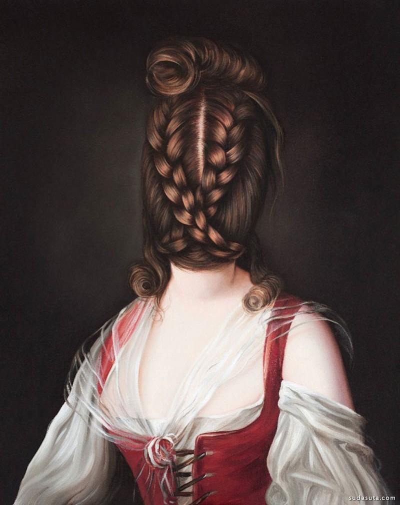 Ewa Juszkiewicz 超现实主义人像插画欣赏