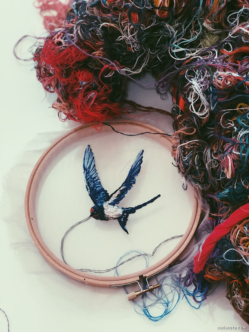 Katerina Marchenko 超现实主义刺绣艺术欣赏