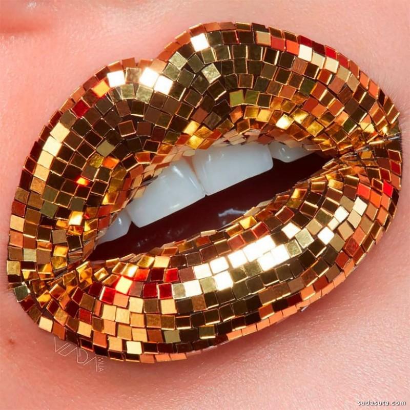 Vlada Haggerty 时尚闪亮的嘴唇 彩妆设计欣赏