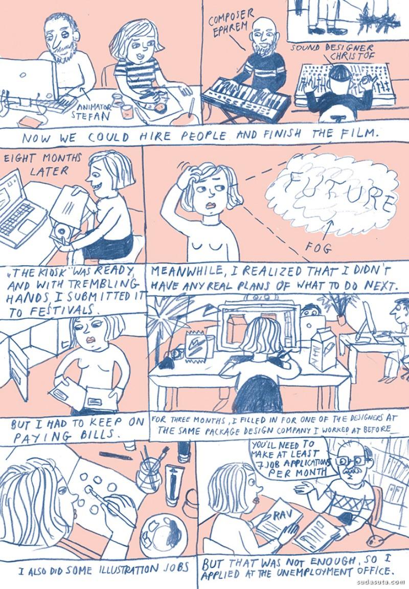 Anete Melece 用画笔讲述故事