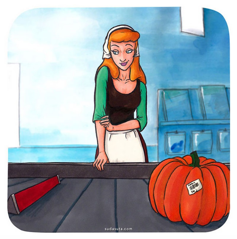 Linda Bouderbala 卡通角色进超市