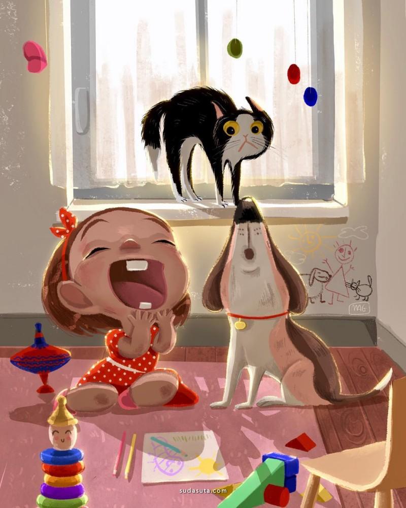 Margherita Grasso 猫咪插画欣赏