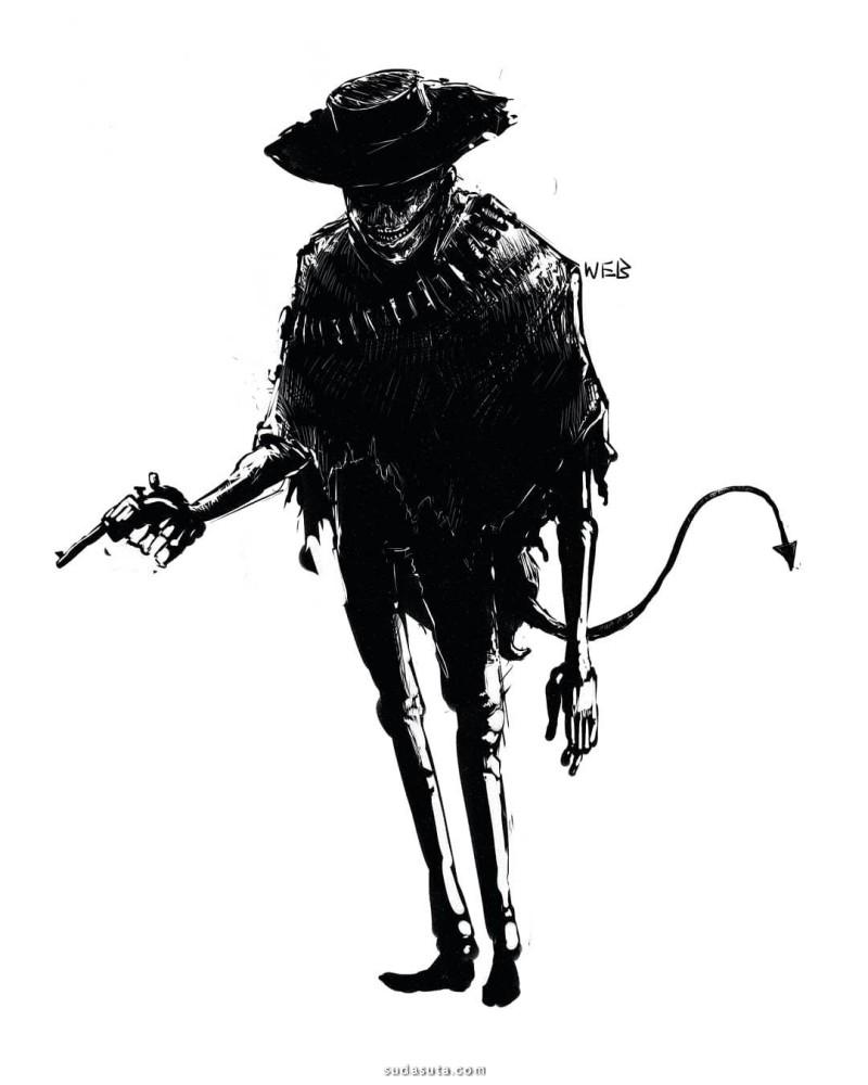 William Burke 恐怖插画欣赏