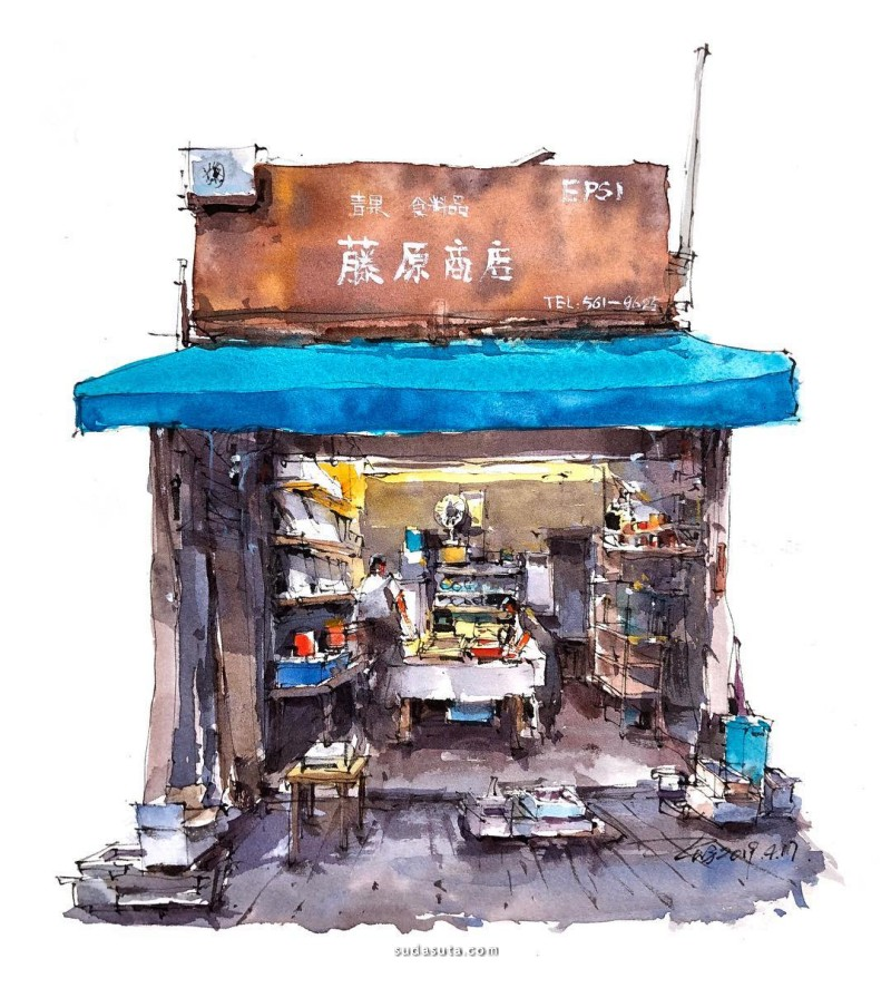 Zhifang Shi 水彩城市