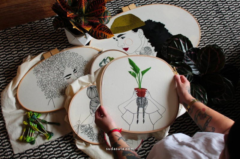 Giselle Quinto 刺绣设计欣赏