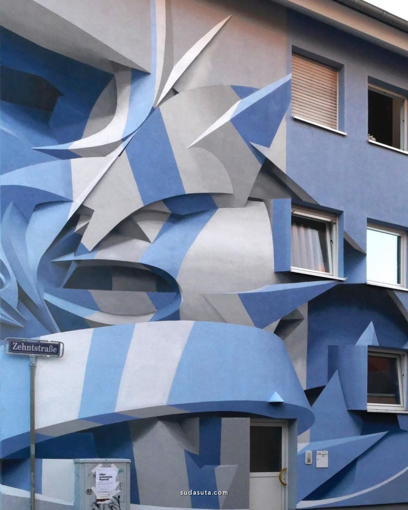 Peeta 城市艺术 错视的房子