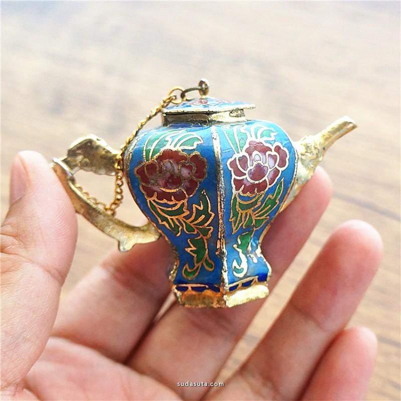 即将消失的美 景泰蓝装饰壶小摆件