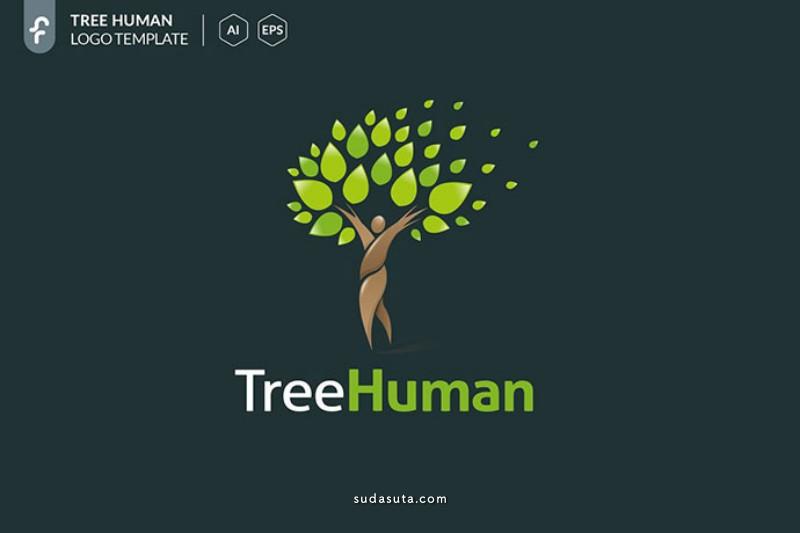 关于绿色 树的主题 LOGO 设计欣赏