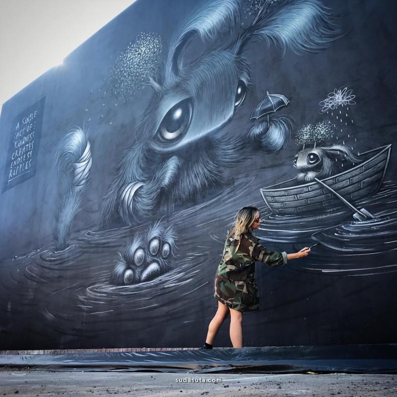 Hayley Welsh 城市涂鸦