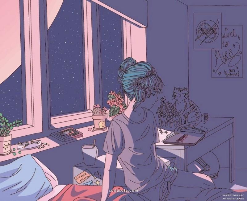 Kelsey Smith 每日的生活 个人插画作品欣赏
