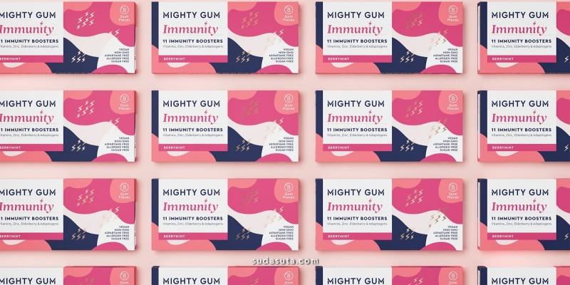Mighty Gum 品牌设计欣赏