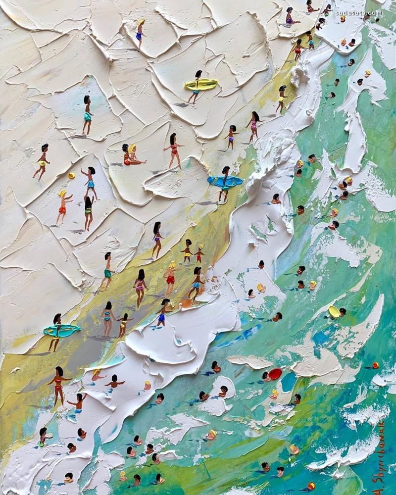 Alena Shymchonak 海滩