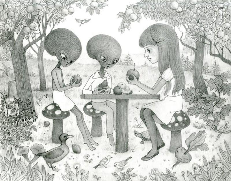 "Ana Bagayan 系列插画""彩虹儿童"""