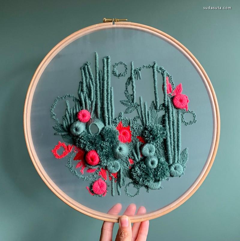 Helen Wilde 刺绣艺术欣赏