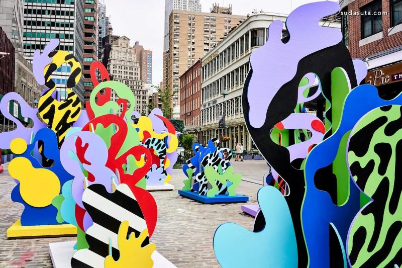 纽约街头的海洋主题雕塑