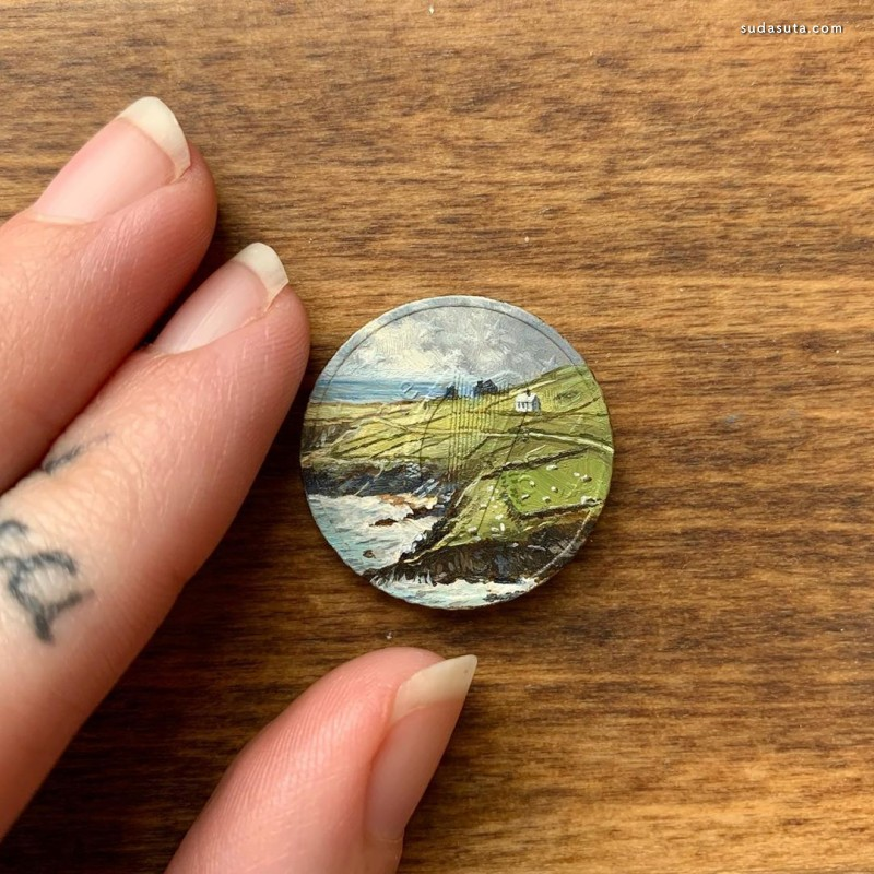 Bryanna Marie 硬币上的油画