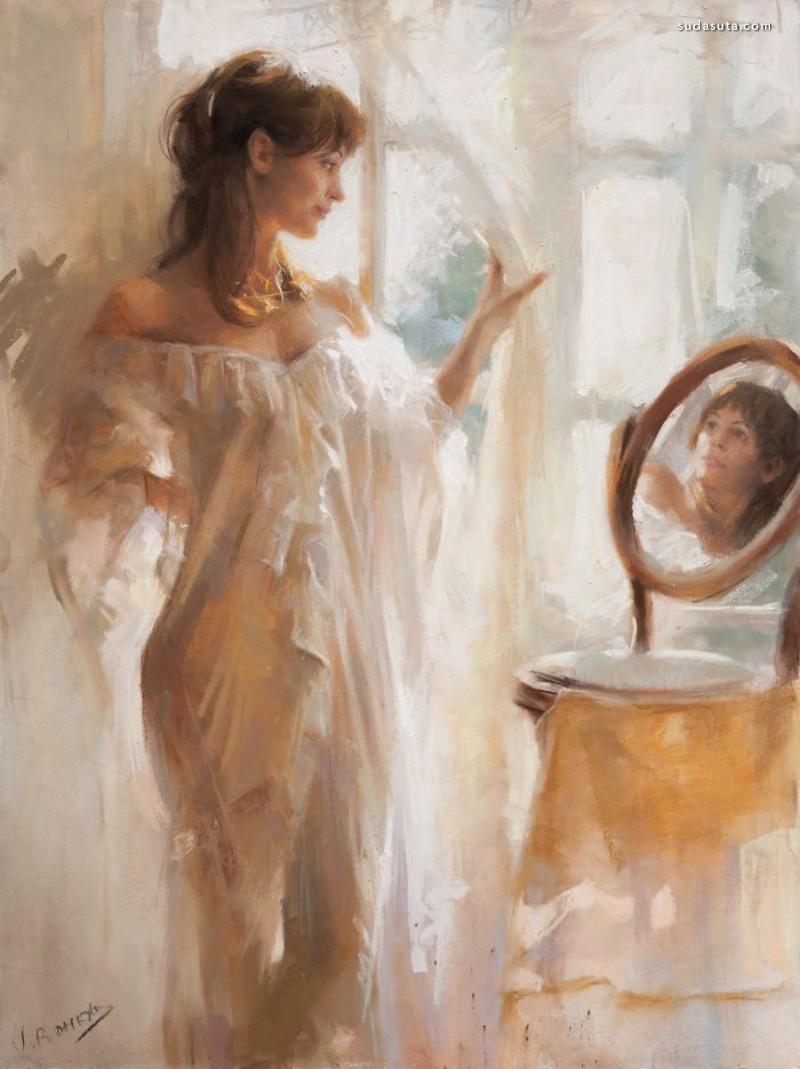 Vicente Romero Redondo 手绘粉彩画艺术欣赏