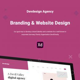 免费的Devdesign Agency XD UI 网站模板下载