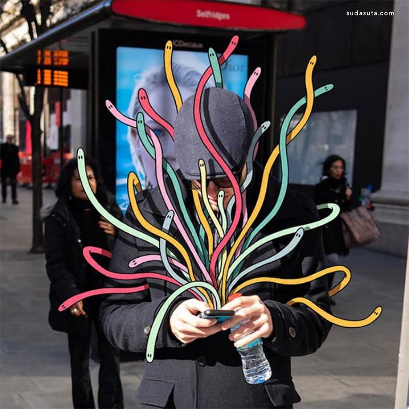 Andrew Rae 不可思议的小怪物 照片合成作品欣赏