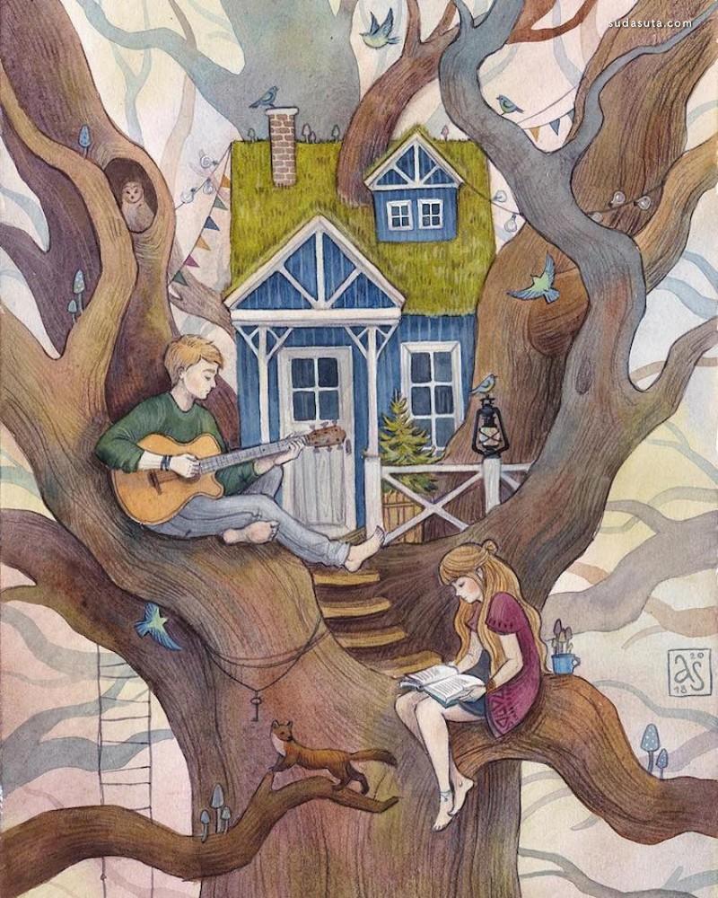 Anna Speshilova 儿童插画欣赏