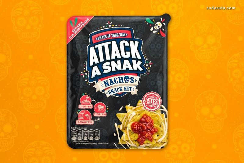 Attack A Snak 美食包装设计欣赏
