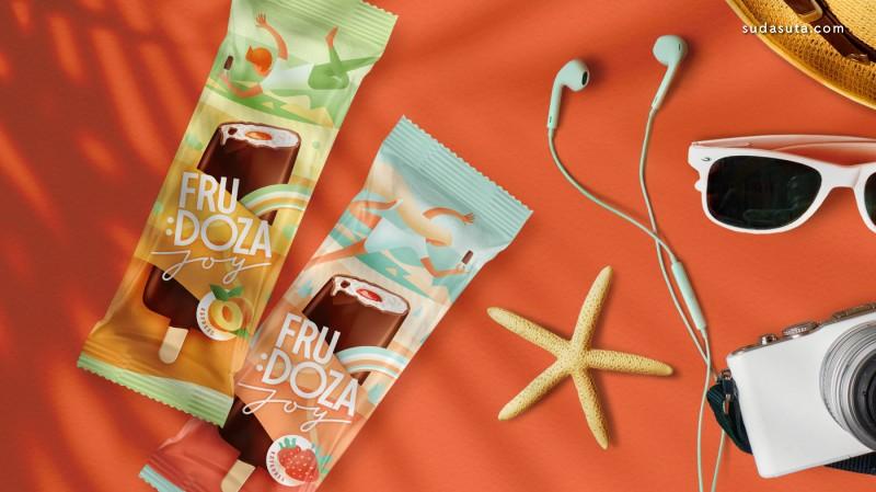 Frudoza Joy 美味的冰激凌包装设计欣赏