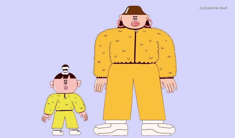 Haein Kim 有趣夸张的卡通漫画