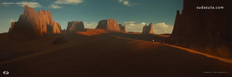 Jan Urschek 未来景观 CG 欣赏
