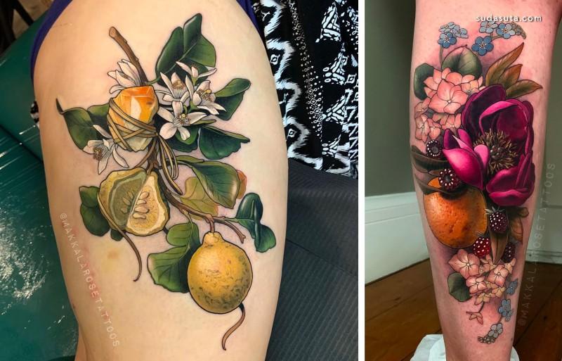 Makkala Rose 纹身设计欣赏