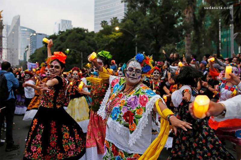 2019年墨西哥亡灵节主题街拍