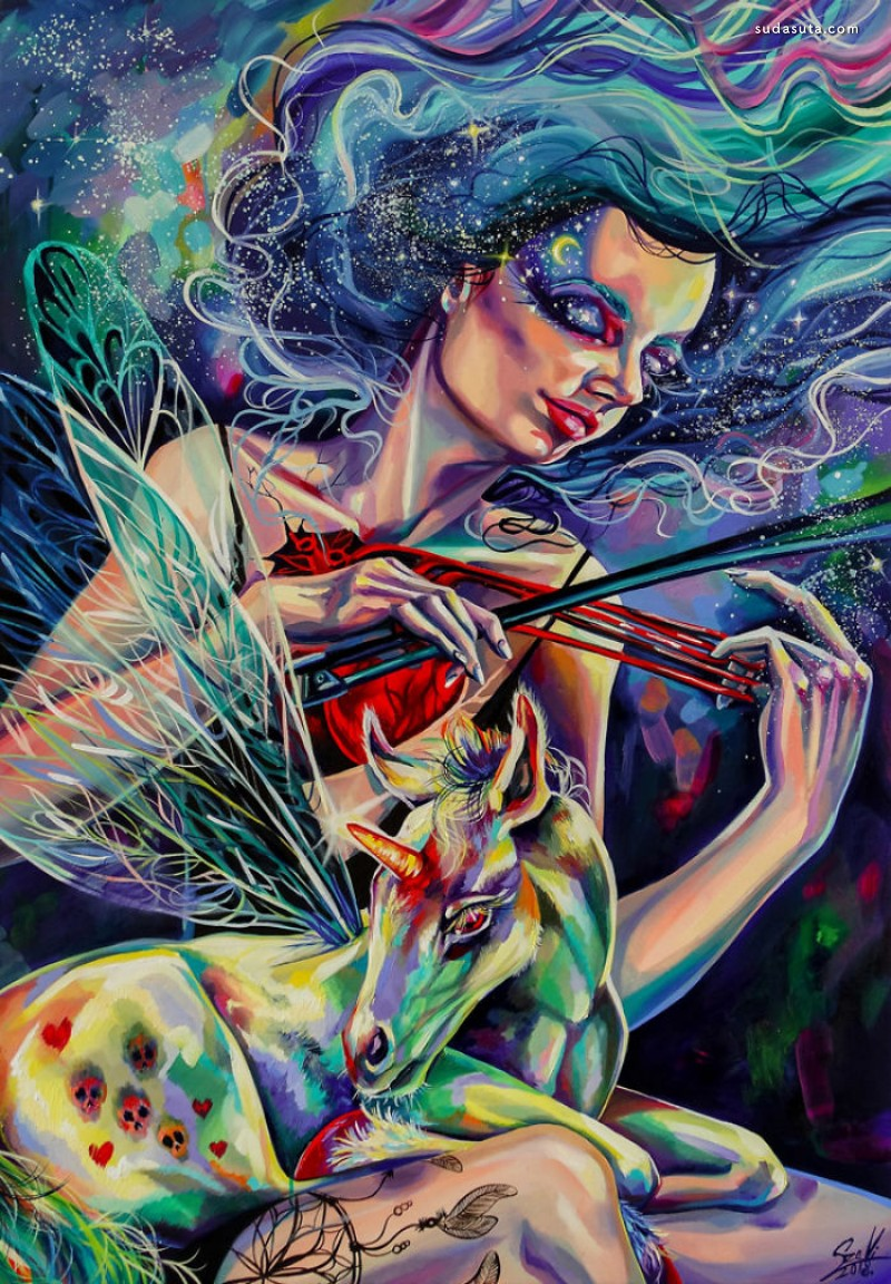Vivien Szaniszlo 个人涂鸦作品欣赏