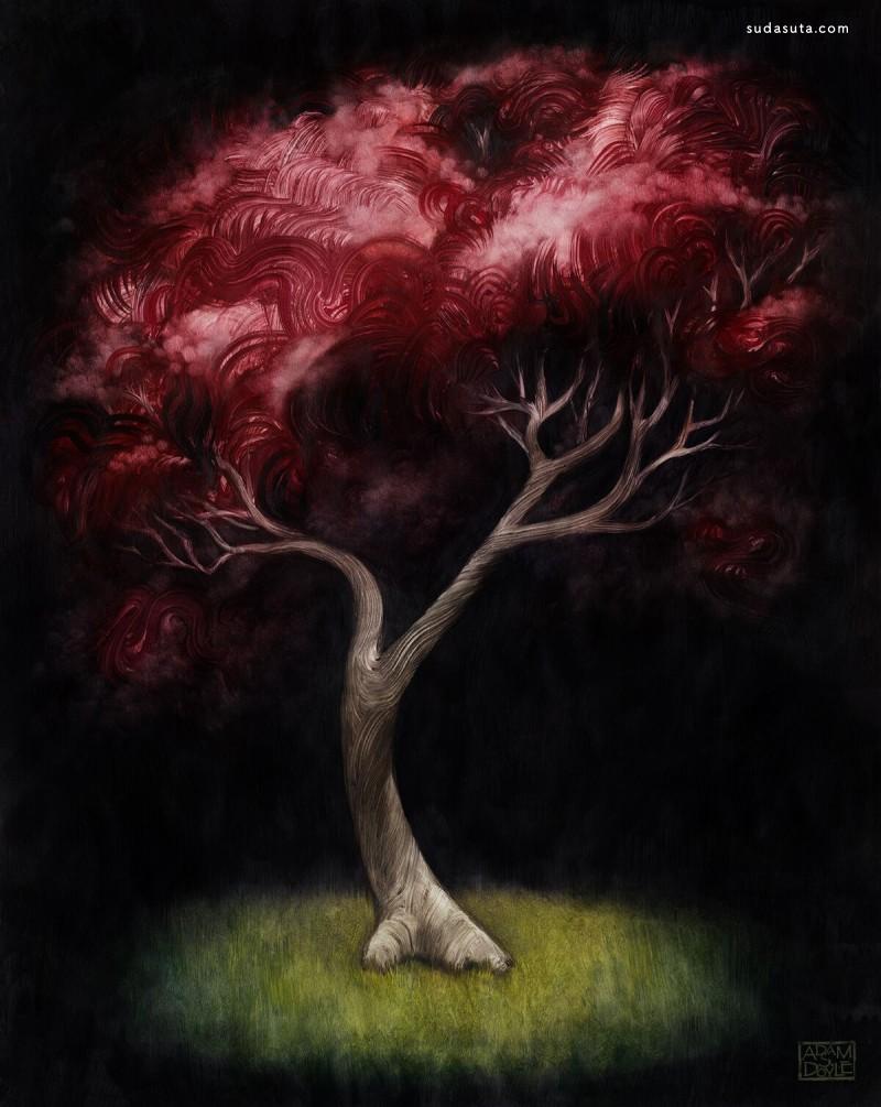 Adam S. Doyle 值得尊敬的树木 系列插画欣赏