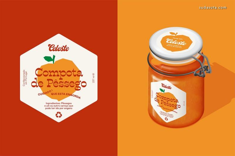 Celeste 可爱的果酱包装设计欣赏