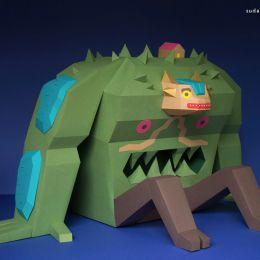 一只叫做Musgor的纸质怪兽
