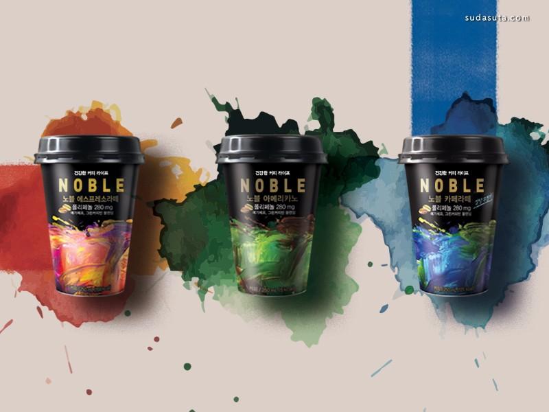 Noble 速溶咖啡设计欣赏