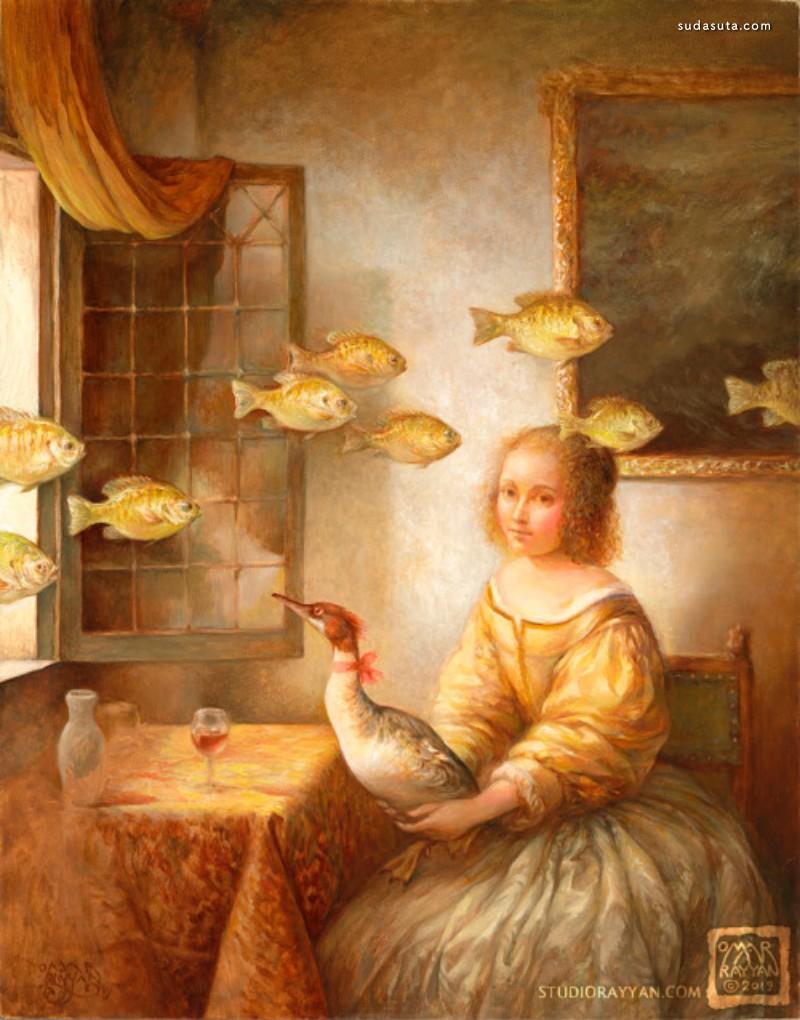 Omar Rayyan 绘画艺术欣赏